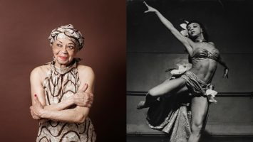 Photographs of Othella Dallas dancing (1940's) and now